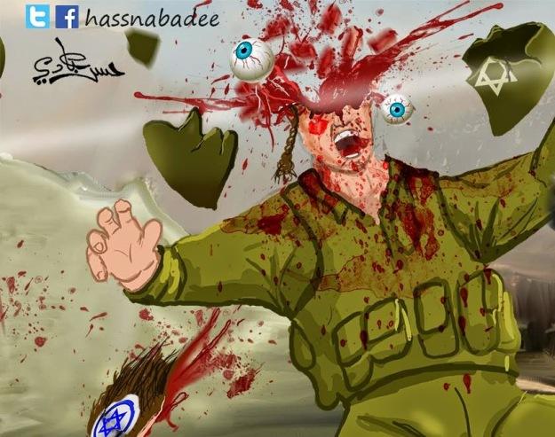 Από το Facebook της μητέρας των παιδιών της Φαμίλιας Tamimi: Τα παιδιά το αναδημοσίευσαν στα δικά τους προφίλ: Palestinian Slaughter Hashtag 'Stab a Jew'